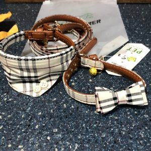 Net super cute two collar and leash set